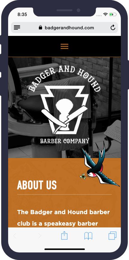 Badger & Hound Mobile Site