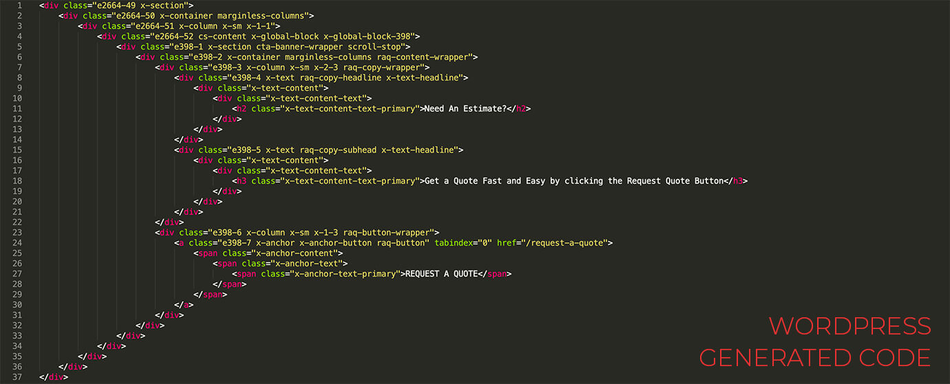 Wordpress Generated Code